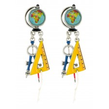 Taratata Maths Earrings (Globe)